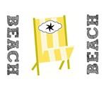 Fav Beach Chairs -yellow stripes