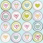 Badge of Hearts Sea Glass