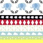 Blue Elephants YaYa Quilt