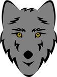 Gray Wolf Head Symbol