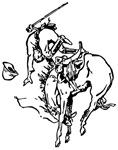 Horse Bucking Cowboy Image