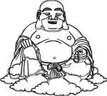 Sitting White Buddha Icon