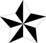 5-pointed Pentagram Star