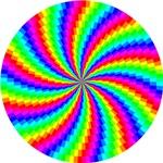 Rainbow Swirled Circle
