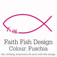 Fuschia Pink Faith Fish Design