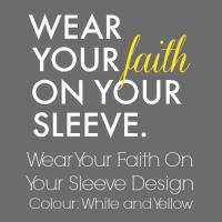 White and Yellow Faith Design