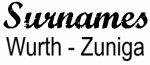 Vintage Surname  Wurth - Zuniga