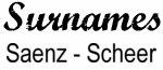 Vintage Surname - Saenz - Scheer