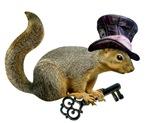 Squirrel Hat Key
