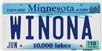 Winona License Plate Shop