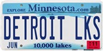 Detroit Lakes License Plate Shop