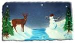 snowman and deer