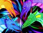 4 Dragon heads
