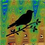 Bird on Abstract