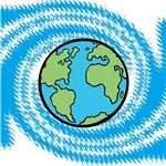 Planet Earth on Swirl