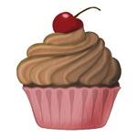 Pink and Brown Cupcake