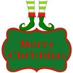 Merry Christmas Elf Flourish