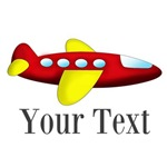 Personalizable Red Yellow Airplane