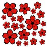 Red Black Flowers