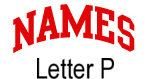Names (red) Letter P