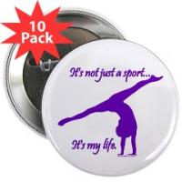 Gymnastics Buttons by Gymnastics Stuff