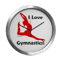 Gymnastics Clocks - Great gifts!