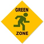 Green Zone Pedestrian Sign