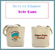 Diaper, Toy Tote Bag