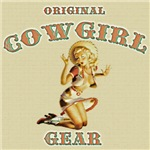 Vintage Style Cowgirl Label
