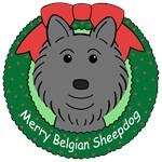 Belgian Sheepdog Christmas Ornaments
