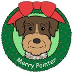 German Wirehaired Pointer Christmas Ornaments