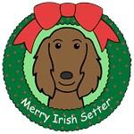 Irish Setter Christmas Ornaments