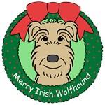Irish Wolfhound Christmas Ornaments