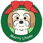 Lhasa Apso Christmas Ornaments