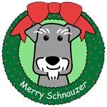 Miniature Schnauzer Christmas Ornaments
