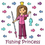 Fishing Princess (Brown Hair)