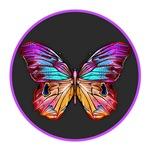 Butterfly Purple Outline
