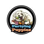 Partying Puppies OFFICIAL logo- featuring Jake