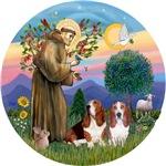 Saint Francis & Two Basset #3