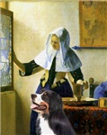 WOMAN WITH PITCHER<br>& Bernese Mountain Dog
