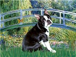 LILY POND BRIDGE<br>& Boston Terrier