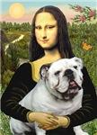 MONA LISA<br>& White English Bulldog