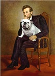 ABRAHAM LINCOLN<br>& White English Bulldog