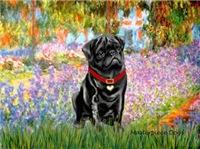 GARDEN AT GIVERNEY<br>& Black Pug