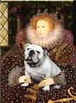 QUEEN ELIZABETH I<br>& White English Bulldog