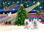 CHRISTMAS MAGIC<br>& 2 West Highland Terriers