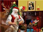 SANTA AT HOME<br>& Siberian Husky