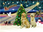 CHRISTMAS MAGIC<br>& 2 Golden Retrievers