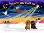CHRISTMAS SUNRISE<br>& 2 Dachshunds (LH)