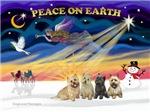 CHRISTMAS SUNRISE<br>& 4 Cairn Terrier